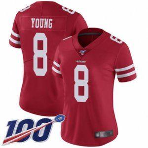 Women 49ers Steve Young 100th Season Jersey